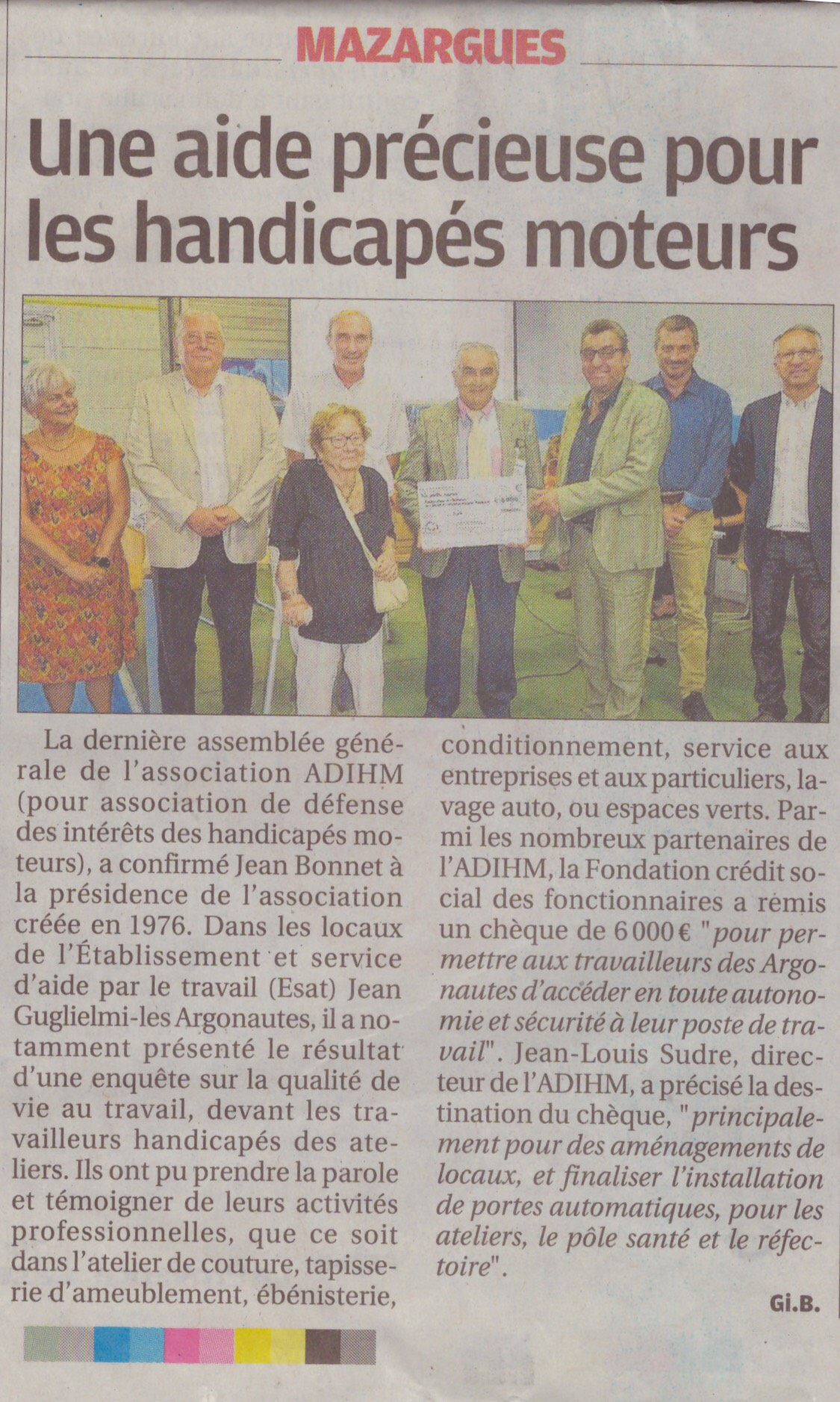 article remise cheque